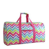 Personalized Chevron Duffel - Multi Colored Chevron