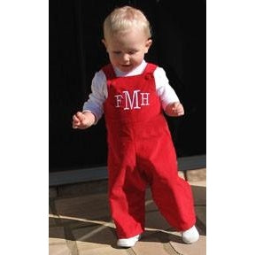 Monogrammed Red John John for Boys