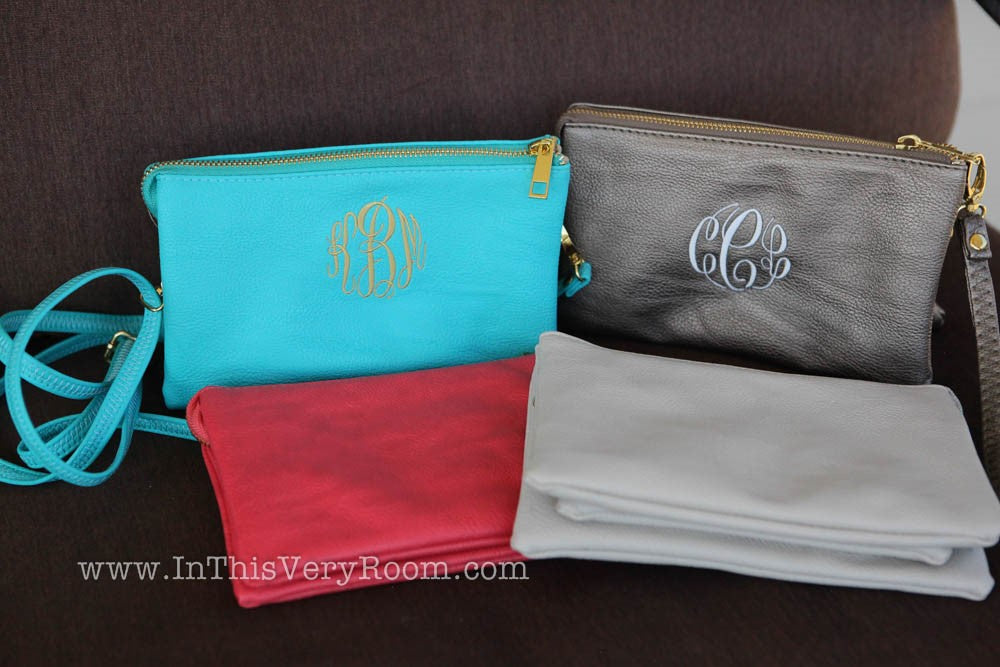 Monogrammed Cross Body Purses