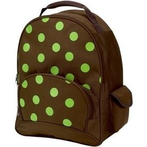 Lime Dot School Backpack by Four Peas