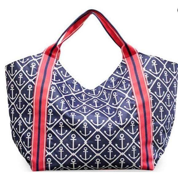 *ALMOST GONE* Anchors Beach Tote - inthisveryroom