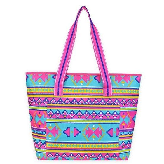 Monogrammed Aztec Tribal Insulated Cooler Tote Bag