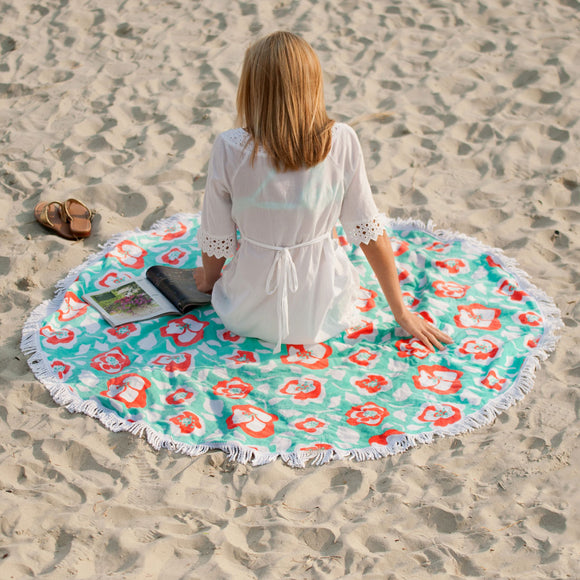 Monogrammed Round Beach Towels