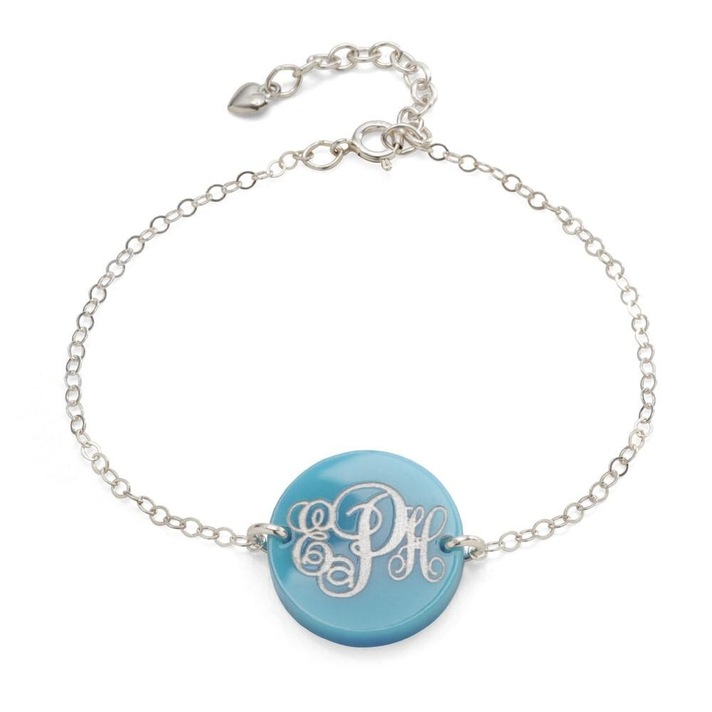 Monogram Acrylic Bracelet by Moon and Lola