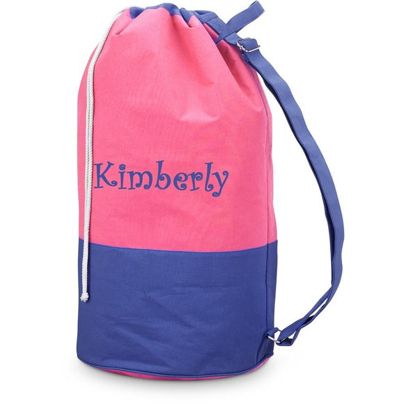 *SOLD OUT* Navy & Pink Color Block Laundry / Duffle Bag - inthisveryroom
