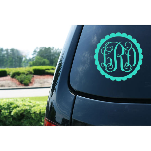 Monogram Car Decal Sticker