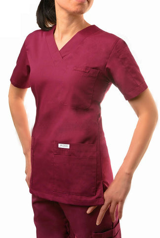 Mobb 520T Classic V-neck Solid Scrub Top