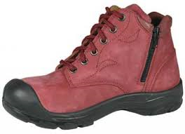 "Nat's 6"" Ladies Work Boot with Zipper"