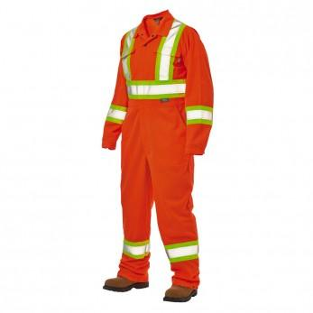 Orange safety unlined coverall