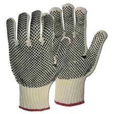 String Knit Gloves with Rubber Dots