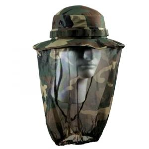 Woodland Camo Boonie with Mosquito Net