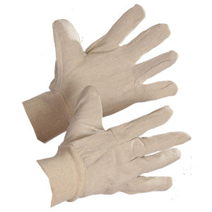 Cotton Glove With Elastic Wrist ($10.00/Doz)