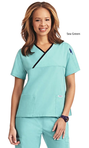 Mobb 323T Solid Scrub Top