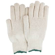 String Knit Jersey Gloves - Natural