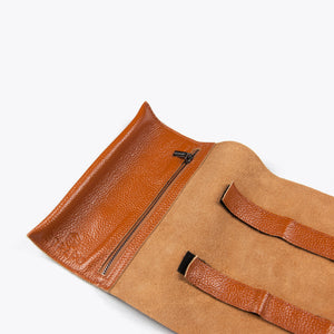 Brown Waxed Cable Organizer Roll - Strapo Design