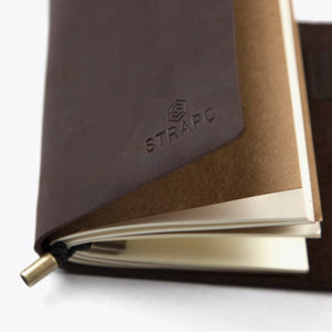 Handmade Leather Journal Notebook - Strapo Design