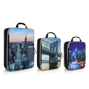 Strapo Packing Cube Set – 3 Sizes Small, Medium and Large – New York Design – Travel Cubes Organizer Set – Lightweight Travel Accessories - Strapo Design