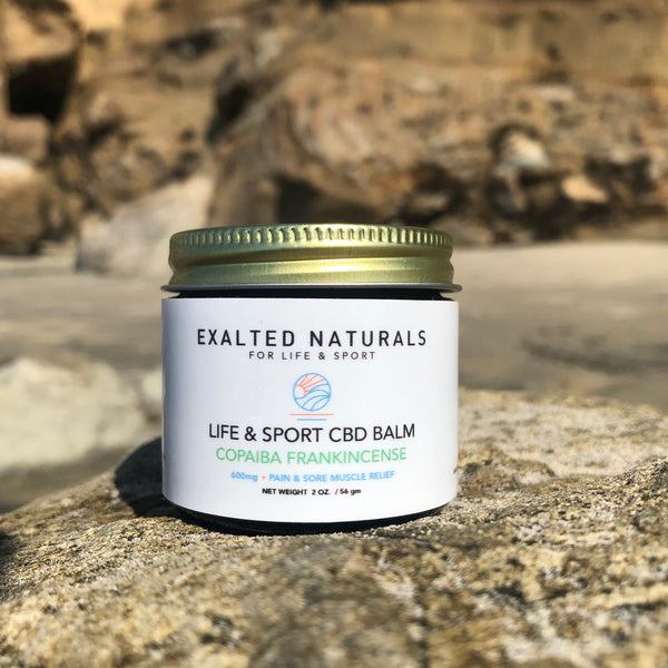 Copaiba and Frankincense Combine with CBD for Topical pain relief.