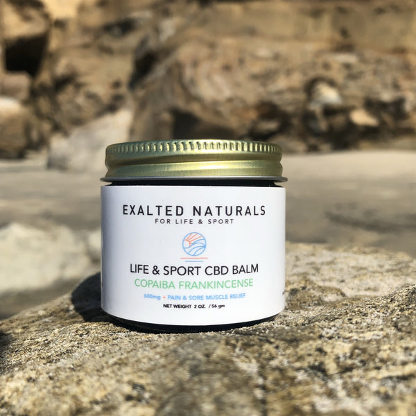 Broad Spectrum Hemp CBD Balm with Copaiba and Frankincense, 600 mg CBD. Best CBD balm for muscle and joint pain. 2 Oz