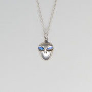 Little Alien Necklace with Moonstone Eyes
