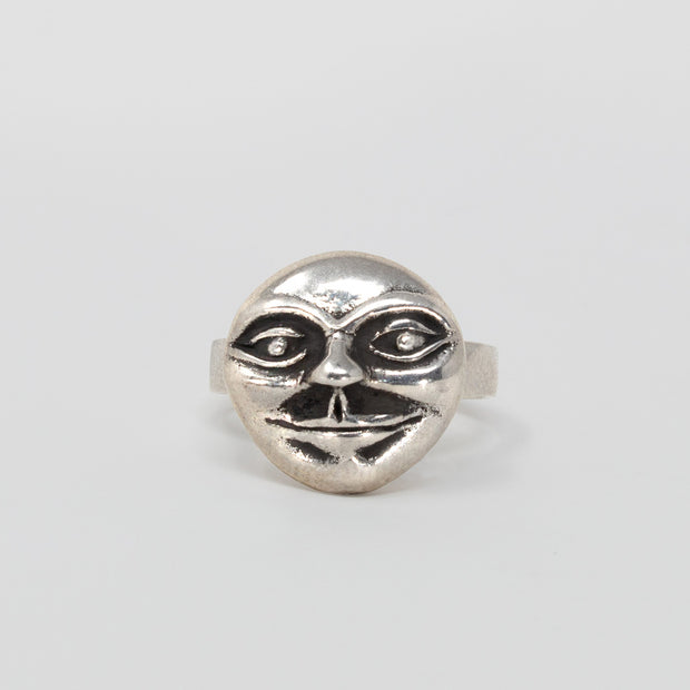 Sterling silver moon man ring jewelry