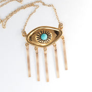 14k gold ancient visions eye necklace