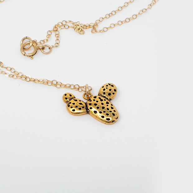 Mini Prickly Pear Cactus Necklace