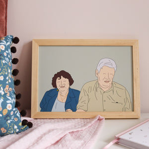 Bespoke Illustrated Portrait Print