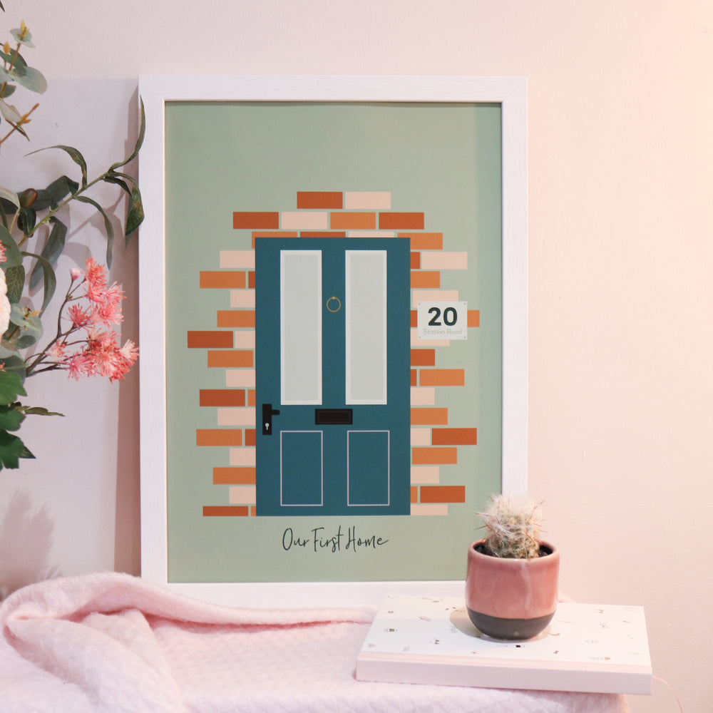 Personalised 'Our first home' Door Paper Print