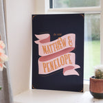 Personalised Couple Banner Typographic Print