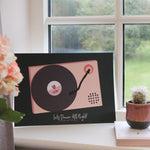 Personalised Record Player Favourite Song Print