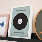 Personalised Retro Vinyl Keepsake Print