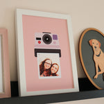 Personalised Retro Photograph Print For Couples