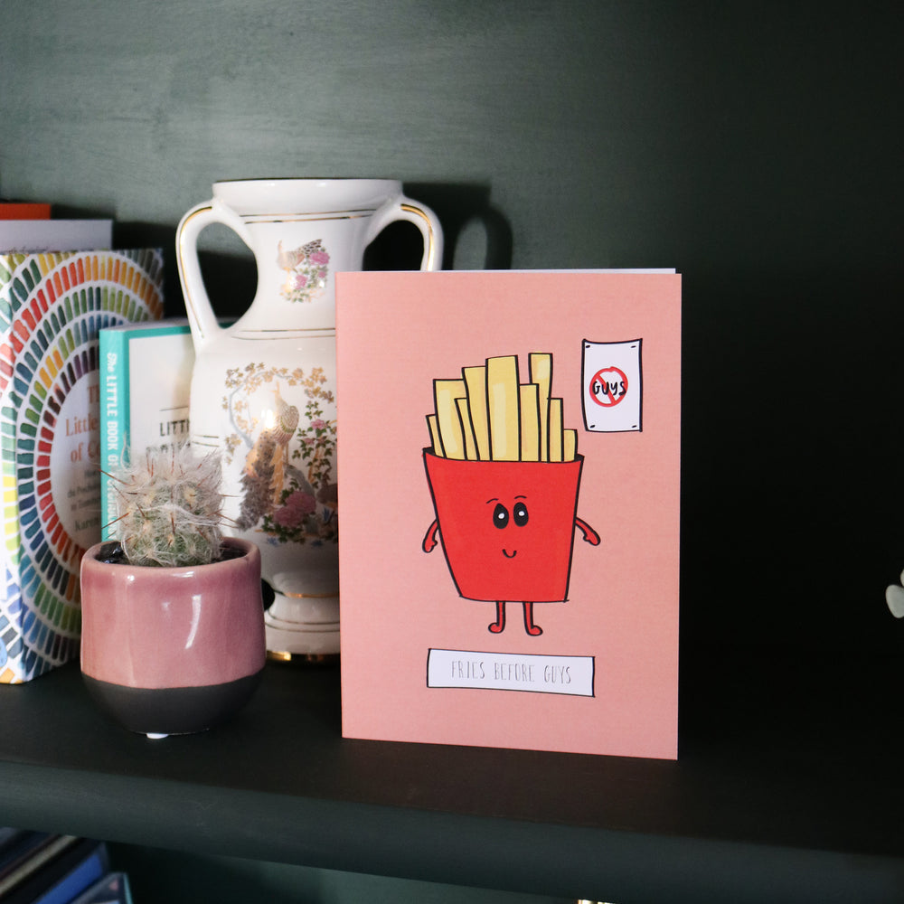 'Fries Before Guys' Palentine's Day Card