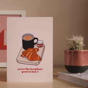 'Great In Bed' Cheeky Anniversary Card