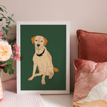 Personalised Illustrated Pet Portrait Paper Print
