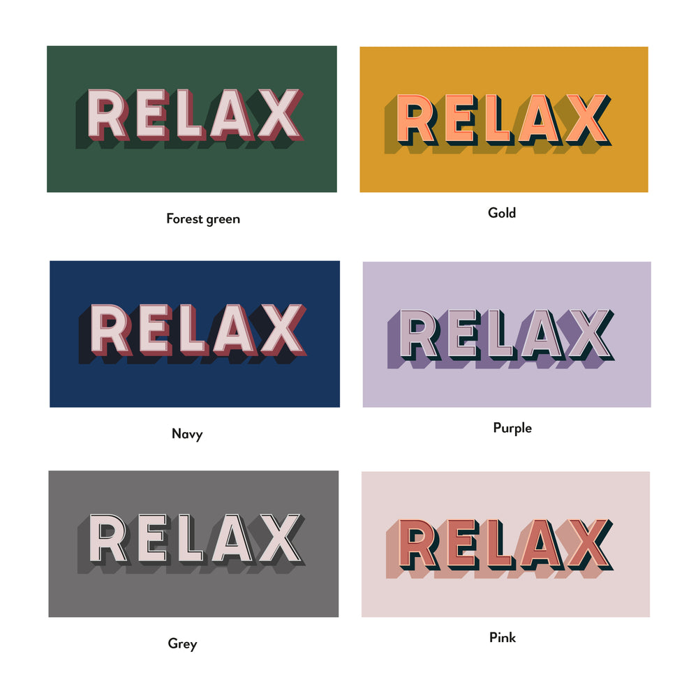 'Relax' Bold Typographic Wall Art Print