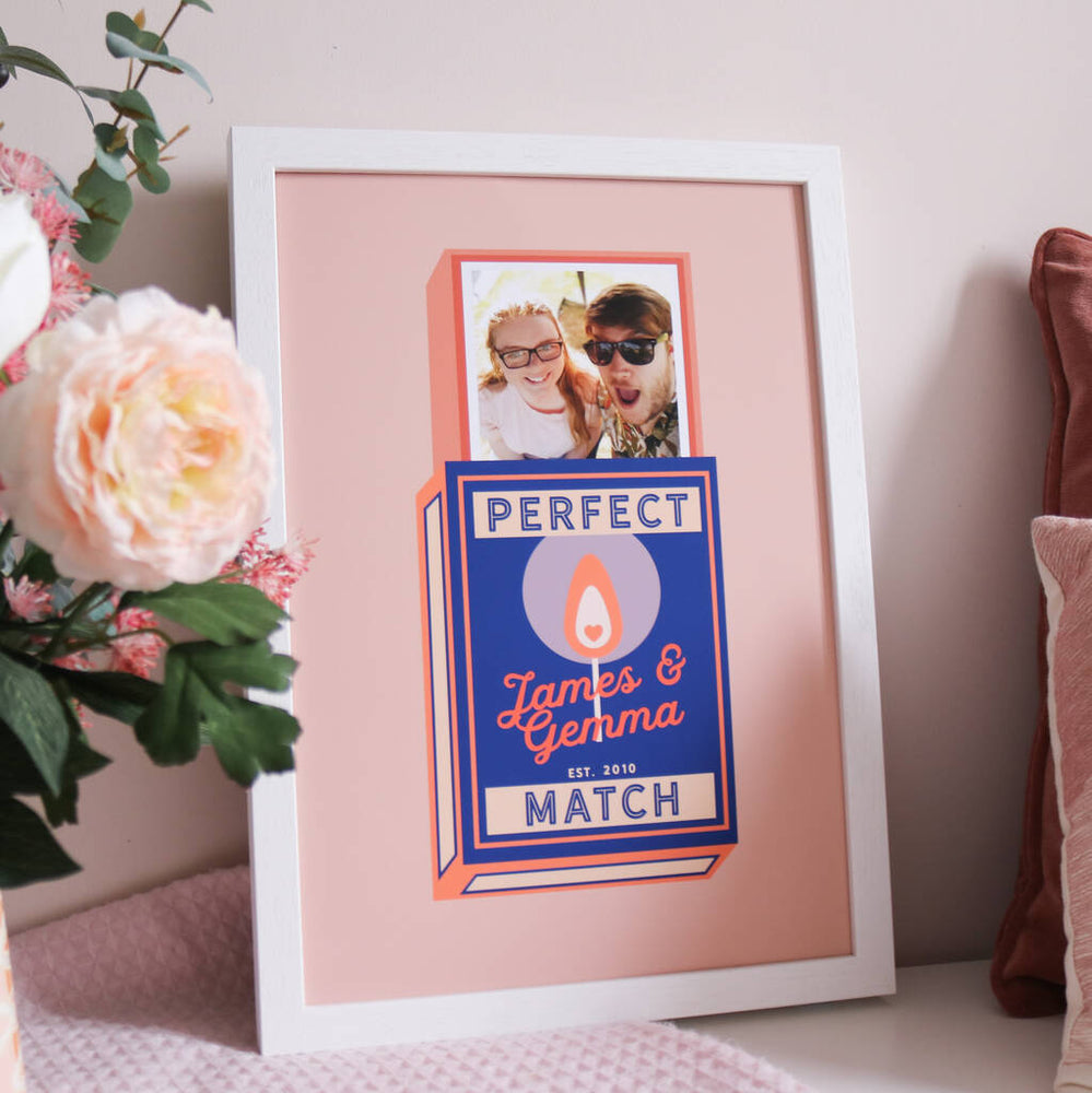 Wedding Anniversary Personalised Match Box Print