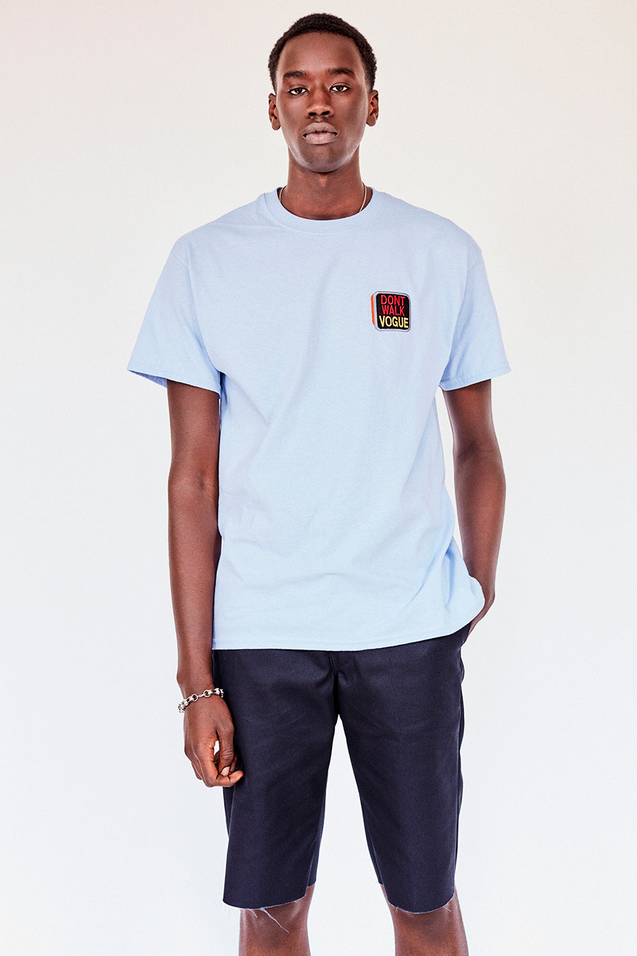 The Dont Walk Vogue Tee- Pale Blue