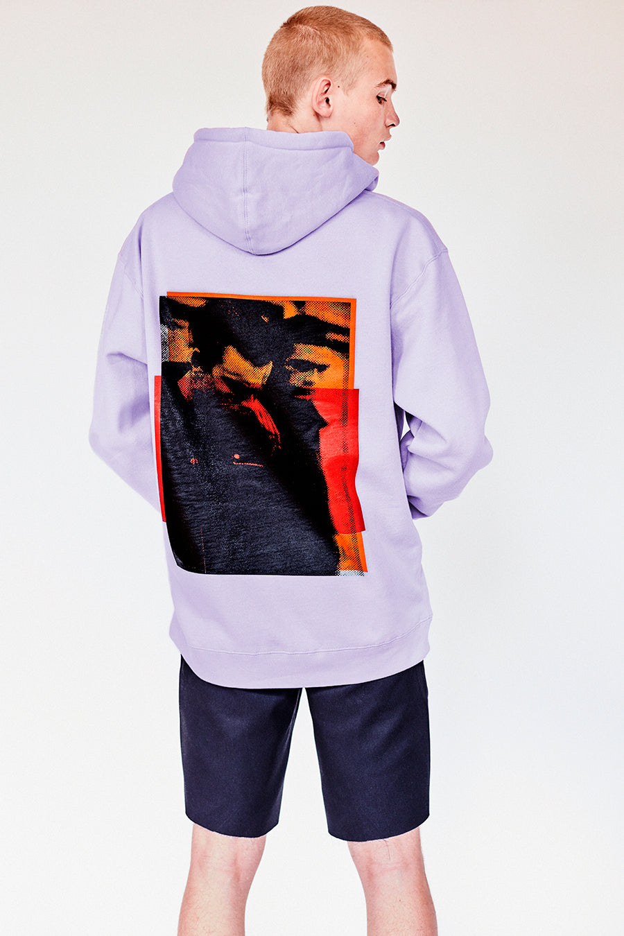 Brand New from New York City: Stmarksnewyork.com. Shop the St. Marks Couture Guys Lilac Hoodie: Featuring St. Marks Couture New York logo on chest and St. Marks guys image on the back. Hand silkscreen printed in New York with love.