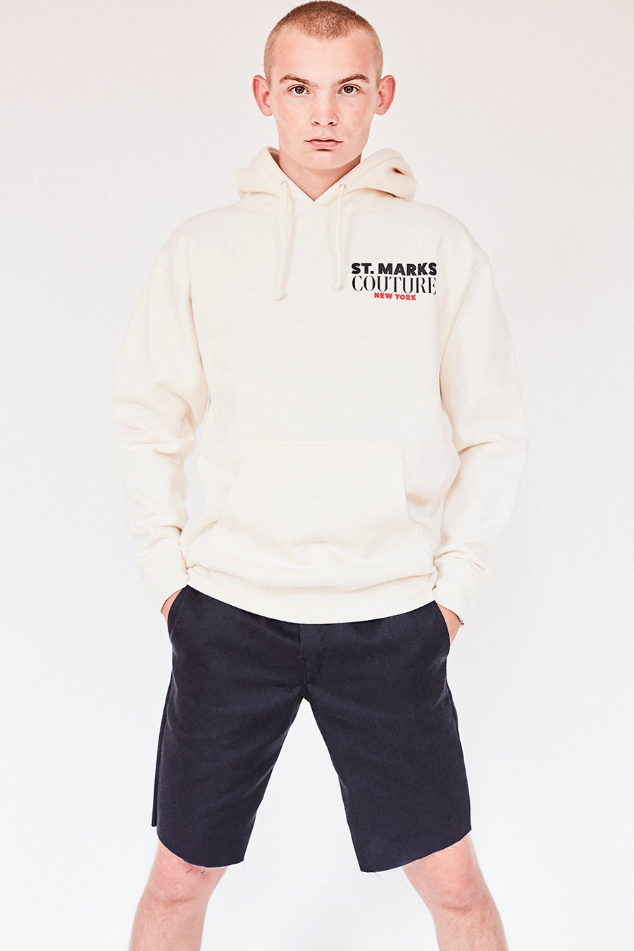 Brand New from New York City: Stmarksnewyork.com. Shop the St. Marks Couture Guys Bone Hoodie: Featuring St. Marks Couture New York logo on chest and St. Marks guys image on the back. Hand silkscreen printed in New York with love.