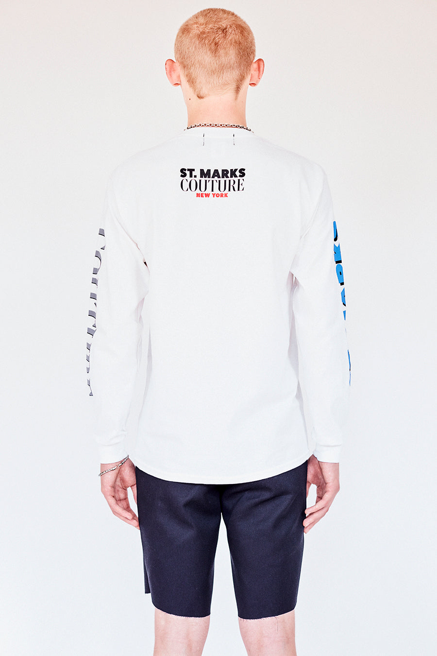 The St Marks Boombox Long Sleeve T- White