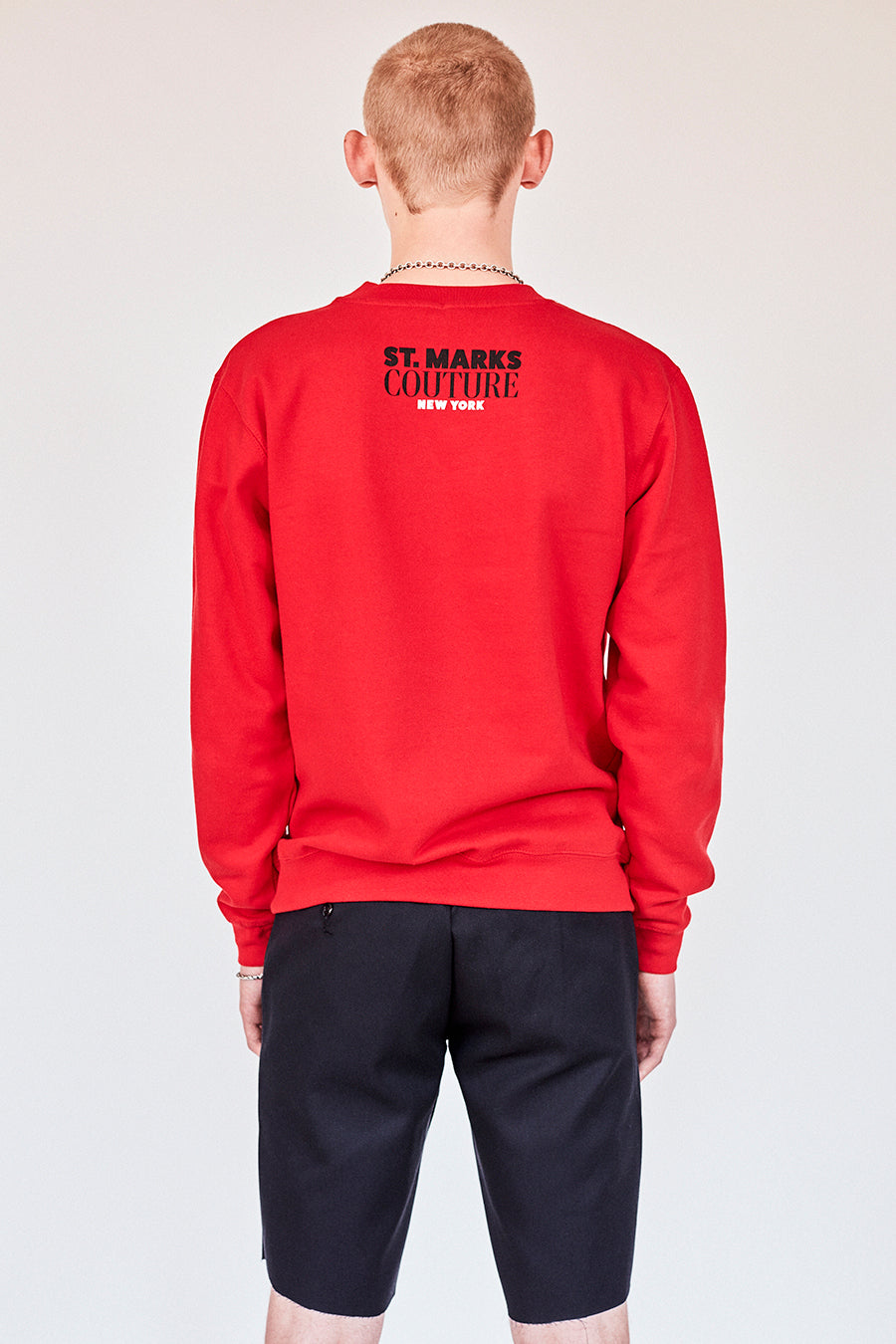 The St Marks  Sweatshirt- Red
