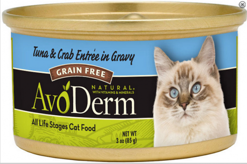 AvoDerm Natural Tuna and Crab Meat Chunks Canned Cat Food