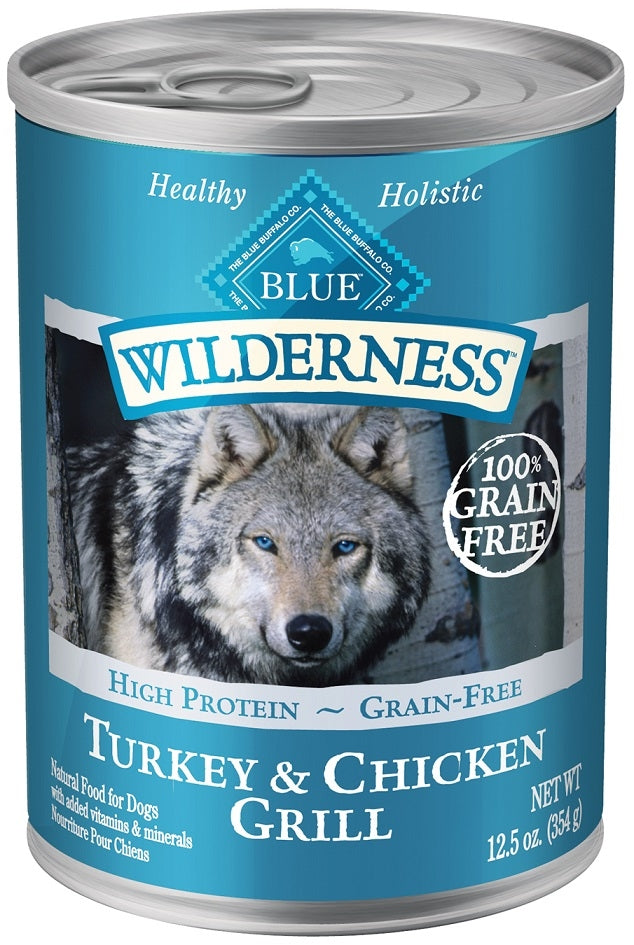 Blue Buffalo Wilderness Turkey and Chicken Grill Canned Dog Food