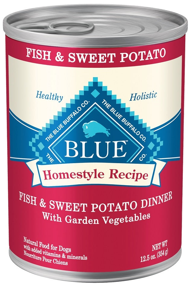 Blue Buffalo Homestyle Recipe Fish and Sweet Potato Dinner with Garden Vegetables Canned Dog Food