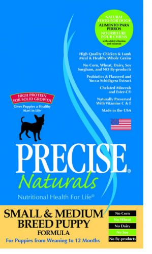 Precise Naturals Small and Medium Breed Puppy Formula Dry Dog Food