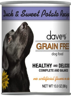 Dave's Grain Free Duck and Sweet Potato Canned Dog Food