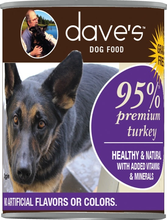 Dave's Premium Turkey 95% Meat Canned Dog Food