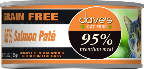 Dave's 95% Salmon Pate Formula Canned Cat Food